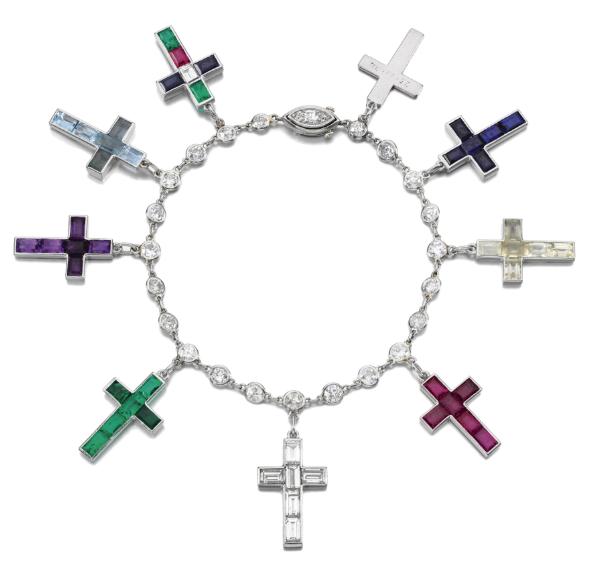 The Cartier Nine Cross Charm Bracelet